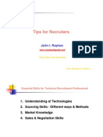 Tips for Recruiters