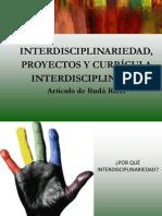 Articulo Interdisciplinariedad