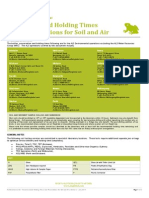 ALS Recommended Holding Times and Preservations for Soil and Air