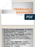 Trabalho e Educação