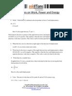Work Power Energy