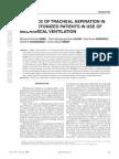 Incidencia de Aspiração Em Pacientes Traqueostomizados Em Uso de VM