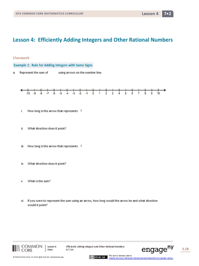 lesson 4 efficiently adding integers and other rational numbers ...