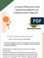 Políticas Públicas Para o Desenvolvimento Da Agricultura Familiar