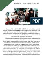 Principais Tendências Da SPFW Verão 2014
