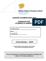 Guidance to Students and Parents