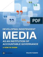 Media as an Institution of Accountable Governance