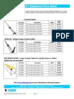 Coda Keencut Price List
