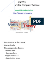 Non Cooperative Games Five Lectures