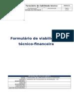 Formulário de Análise de Viabilidade Técnico-Financeira - Cópia