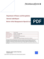 Foi-11-38-Review of the Management of Special Accounts