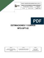 MTO-SPT-02 Estimaciones y Cobros