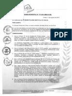 Ordenanza Municipal N° 173-2014-MDCH/CM
