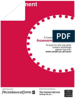 Assessment Centre Booklet Updated by HMc June 09