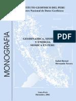 Sismicidad Tectonica Peru Bernal Tavera