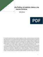 Teoría y Filosofía Política, La Tradición Clásica y Las Nuevas Fronteras