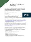 Exchange System Manager for Windows Vista - Release Notes