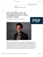 How the Kids at Box Are Disrupting Software's Most Lucrative Game - Forbes
