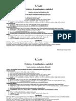 Andebol.critérios de Avaliação7.º, 8.º e 9.º