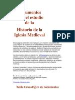 Documentos Para El Estudio de La Iglesia Medieval