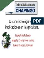 La Nanotecnología y Sus Implicaciones en La Agricultura