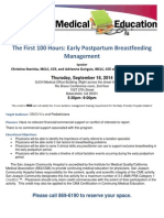 Physician Dinner/Lecture Event Flyer