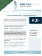 Cullen Roche - 5 Wall Street Myths That Hurt Investors