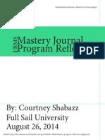 Shabazz,Courtney_Mastery Program Reflection Assignment
