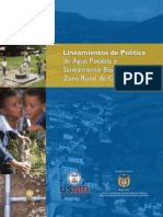 Politica de Agua Potable y Saneamiento Basico Zona Rural De