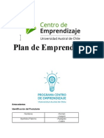 Informe Final Plan de Emprendizaje Pae 2014 Beneficiarios