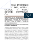 Comunicado de Prensa de Las Alcaldías Indígenas Región Ixil
