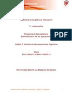 Unidad 3. Gestion de Las Operaciones Logisticas
