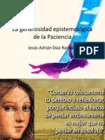 Sobre la generosidad epistemológica de la Paciencia..pptx