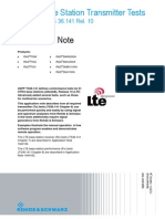 LTE-A Base Station Transmitter Tests