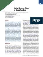 Discher Sweeney Elastic Matrix of a Mesenchymal Stem Cell