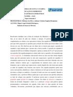 Relatório da ficha de avaliação dos Materiais e os recursos