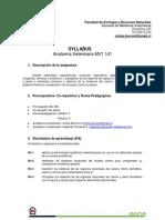 Syllabus Anatomia Vet 2014