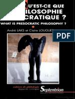 A Filosofia Pre Socratica