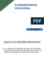 GESTIÓN ADMINISTRATIVA EDUCACIONAL