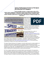 How Does High-Frequency Trading Impact Investors at The Speed Traders Workshop 2014 Singapore