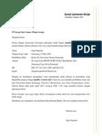 Surat Lamaran Pekerjaan PT Sayap Mas Utama (Wings Group)