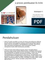 HACCP Pada Proses Pembuatan Es Krim