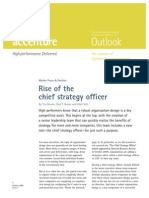 Accenture Outlook - Rise of the Chief Strategy Officer (June 2008)