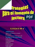 Estrategias Para El Fomento de La Lectura