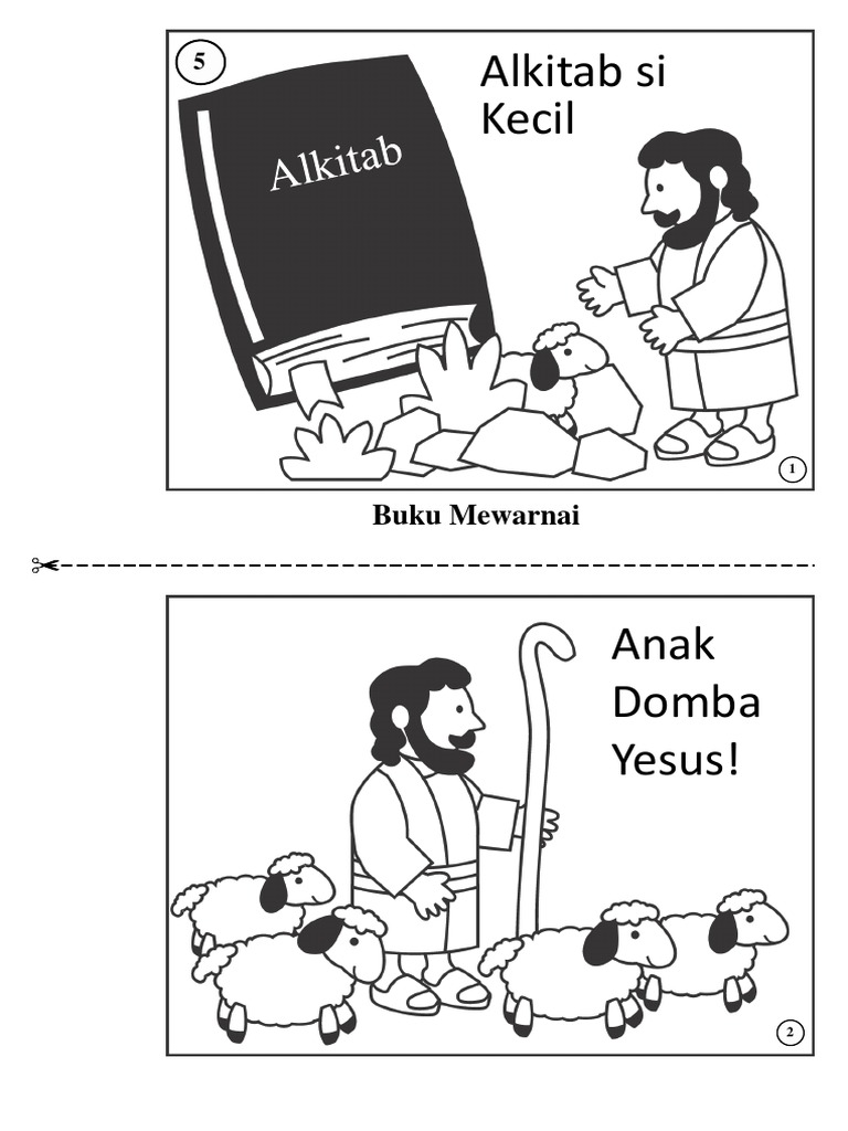 Lebih Dari 100 Gambar Tuhan Yesus Untuk Mewarnai