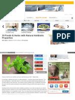 30 Foods & Herbs With Natural Antibiotic Properties