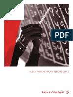 Bain - India Philanthropy Report 2012