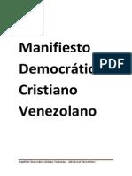 Manifiesto Democrático Cristiano Venezolano (20!08!2014)