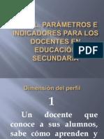 Perfil, parámetros e indicadores para los docentes.ppt