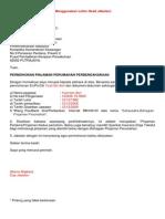 Surat Iringan Ketua Jabatan Permohonan BPP